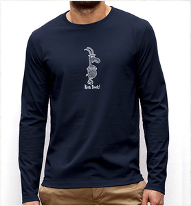 Kein Bock! Langarm T-Shirt in navy blau / Long Sleeve  - Picopoc