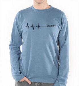 Deadline ;) Langarm T-Shirt in Blau  - Picopoc