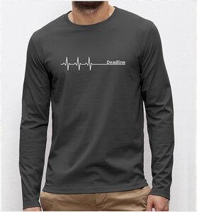 Deadline ;) Langarm T-Shirt in grau - Picopoc