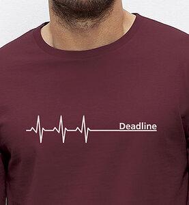 Deadline Langarm T-Shirt / Burgundy braun - Picopoc