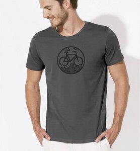 Fahrrad / Bike T-Shirt in Grau & Schwarz - Picopoc
