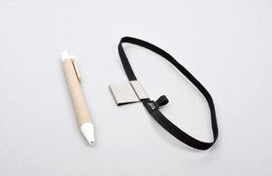 Stifthalter & Gummiband (Stiftschlaufe pen loop) - Schwarz - tyyp