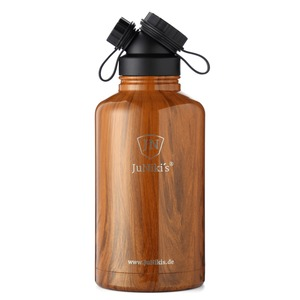 JuNiki´s Double Neck SSVI-1 - Trinkflasche - Edelstahl doppelwandig vakuumisoliert - 1860ml/64oz - Teak - JN JuNiki's