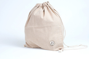 HH Turnbeutel mit Einhorn-Button (String Bag) - Himal Hemp