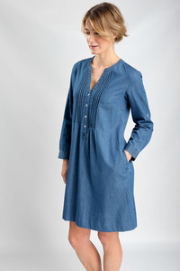 Lucy Denim Smock Dress - bibico