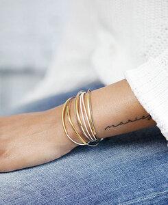 "pikfine Leder Tube Armband ""Tingval"" // Ocker Camel vergoldet - pikfine"