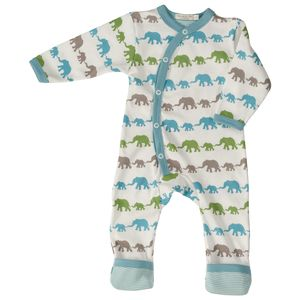Strampler Schlafanzug 'Elephants' multicolor - Pigeon by Organics for Kids