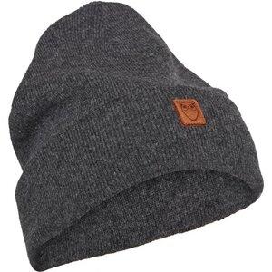 Beanie organic wool - Dark Grey Melange - KnowledgeCotton Apparel