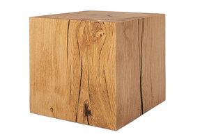 Holzwürfel Eiche 13x13x13 cm massiv Holzblock Holzklotz Podest - GreenHaus