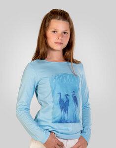 Mädchen-Langarmshirt Blue Heron - Bohemini