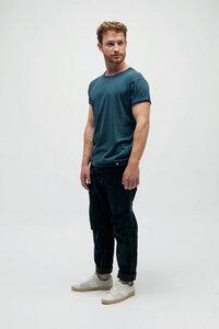 PIRIS, Vintage Washed T-Shirt für Männer - Green-Shirts