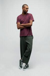 PIRIS, Vintage Washed T-Shirt für Männer Rot - Green-Shirts