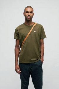 THYMUS, T-Shirt mit edler Stickerei für Männer Khaki - Green-Shirts