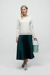HALESIA, Edler Sweater für Frauen Vintage White - Green-Shirts