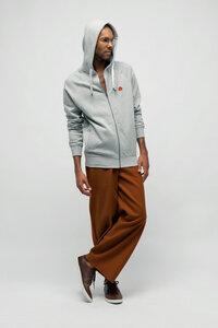CAMILL, Fair Trade Zipper mit Kapuze für Männer - Green-Shirts