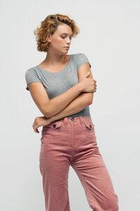 MYRA, Wide T-Shirt aus Holz für Frauen - Green-Shirts