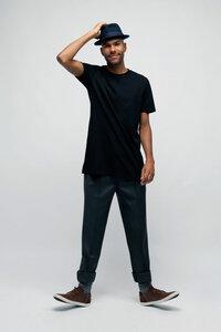 JUGLAN, Extra langes Fair Trade Männer T-Shirt - Green-Shirts