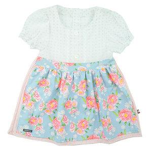 Romantisches Babykleid mit Rosen-Schürze im Folklore-Stil (54550) - carl&lina