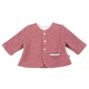 Romantische Babyjacke (kastanien-rot) mit Tasche (555110) - carl&lina