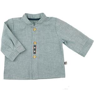Cooles Jungs-Hemd (jeansblau-weiß) in Leinenoptik (54480) - carl&lina
