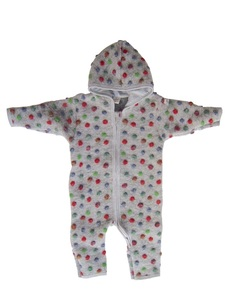 Baby Overall hellgrau mit Punkte Wollfilz - Lilano