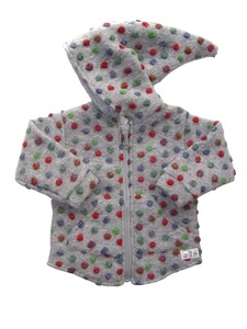 Baby u. Kinder Jacke hellgrau mit Punkte Wollfilz Lilano - Lilano