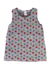 Mädchen Kleid hellgrau mit Punkte Wollfilz Lilano - Lilano