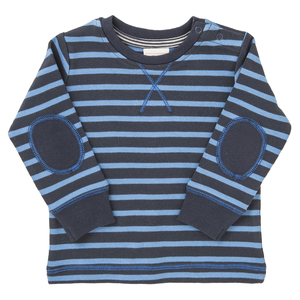 Jungen Langarmshirt blau gestreift Bio Baumwolle People Wear Organic - People Wear Organic