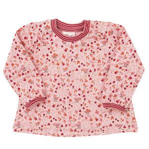 Mädchen Langarmshirt rosa bedruckt Bio Baumwolle People Wear Organic - People Wear Organic