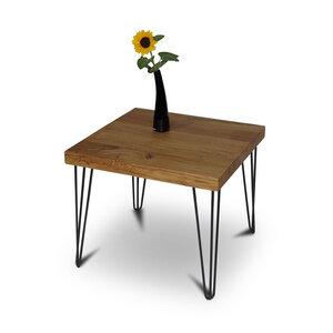 Balken Couchtisch 60x60 cm Wildeiche Massivholz Beistelltisch Tisch - GreenHaus