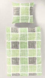 Bio Biber Bettwäsche lindgrün nach GOTS für die kalte Jahreszeit - bierbaum