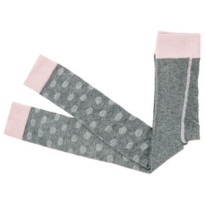Leggings - grau/rosa gepunktet - People Wear Organic