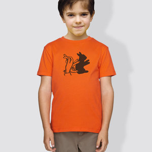 "Kinder T-Shirt, ""Schattenhase"", Orange - little kiwi"