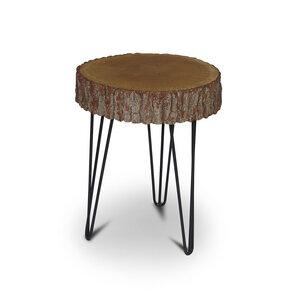 Couchtisch Baumscheibe Wildeiche Massivholz Beistelltisch Tisch - GreenHaus