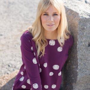 Schneeball Frauenkleid purple dots Blaa! - Blaa!
