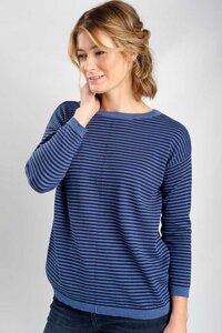 Brooke Fine Wool Striped Jumper - bibico
