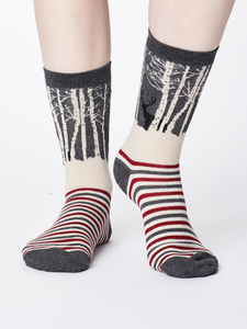 Winter Woodland Bamboo Socks - Grey                          - Thought | Braintree