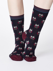 Owlie Sustainable Bamboo Socks - Navy - Thought | Braintree