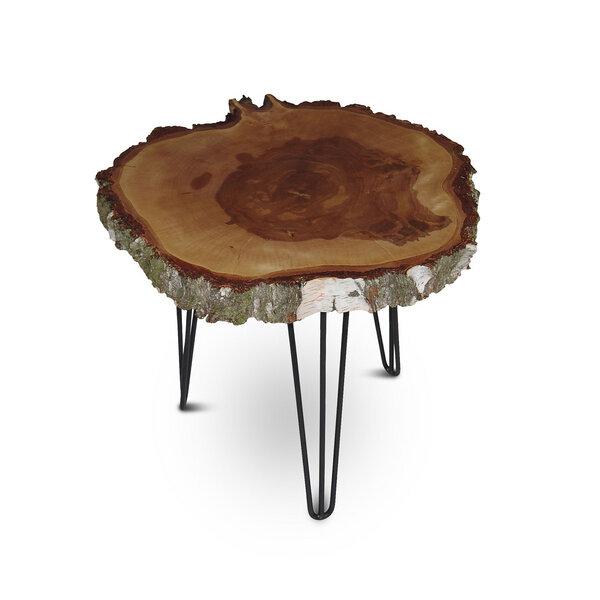 Greenhaus Couchtisch Baumscheibe Birke Massiv Beistelltisch Tisch
