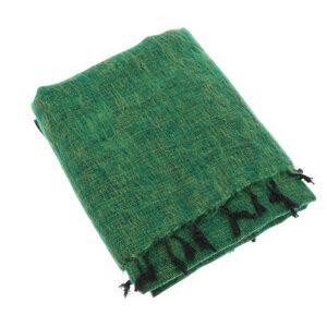 Indra - Plaid oder Wohndecke aus Nepal - Grasgrün - MoreThanHip