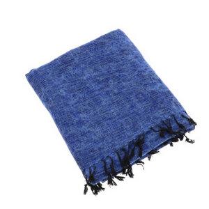 Indra - Plaid oder Wohndecke aus Nepal - Jeansblau - MoreThanHip