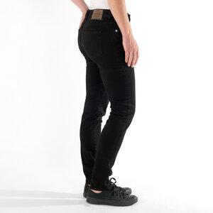 schwarze Jeans SLIMMY BLACK, schmales Bein, tiefer Bund, Bio-Baumwolle - fairjeans