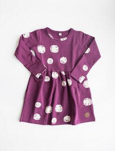 Mädchenkleid purple dots Schneeball - Blaa!