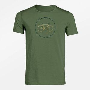 T-Shirt Adores Slub Bike Train - GreenBomb