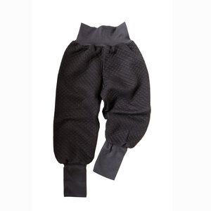 Kinder Stepp Pumphose Bio Baumwolle schwarz Mitwachshose Jogginghose - betus