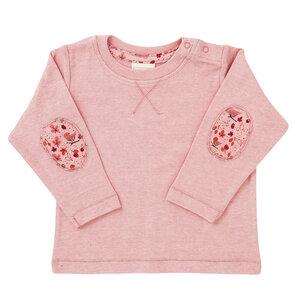 Mädchen Langarmshirt rosa melange Bio Baumwolle - People Wear Organic