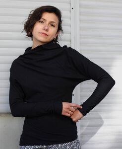 Schwarzer Sweater Zola aus Biobaumwolle  - ManduTrap