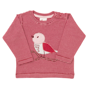 Mädchen Langarmshirt rot geringelt Bio Baumwolle People Wear Organic - People Wear Organic