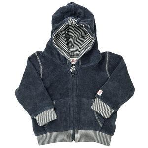Baby Frottee Kapuzenjacke dunkelblau Bio Baumwolle - People Wear Organic