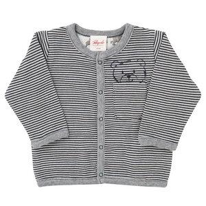 Baby Wendejacke dunkelblau geringelt Bio Baumwolle - People Wear Organic